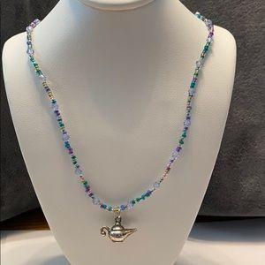 """Genie in a Bottle Beaded Necklace 16""""Long"""